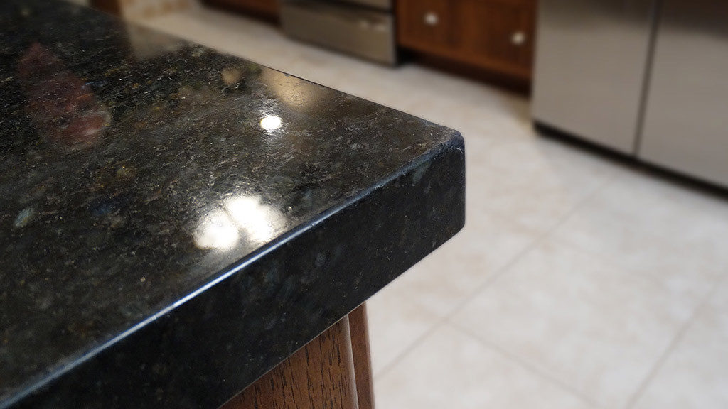 Damaged granite countertop repaired, restored and refinished in Orange County CA