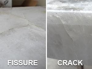 natural stone countertops cracks